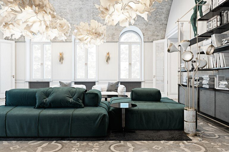 Italian Countryside Residence Decorated in a Classic and Contemporary Style (3)