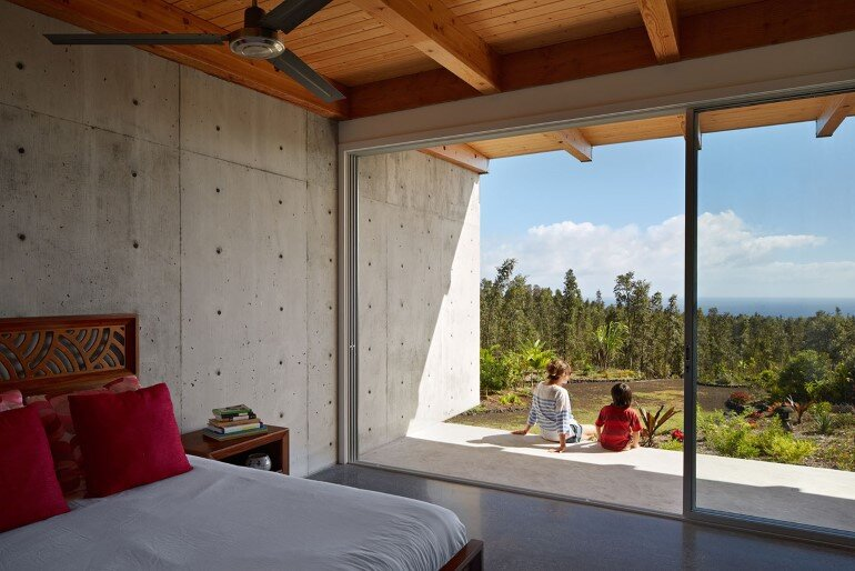 Lavaflow House in Hawaii by Craig Steely Architecture (11)