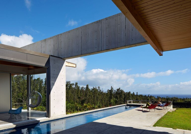 Lavaflow House in Hawaii by Craig Steely Architecture (3)
