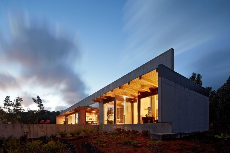 Lavaflow House in Hawaii by Craig Steely Architecture (8)