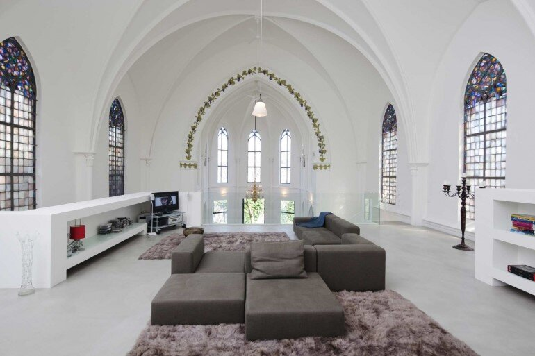 Old Catholic Church Converted into a Spacious House (10)