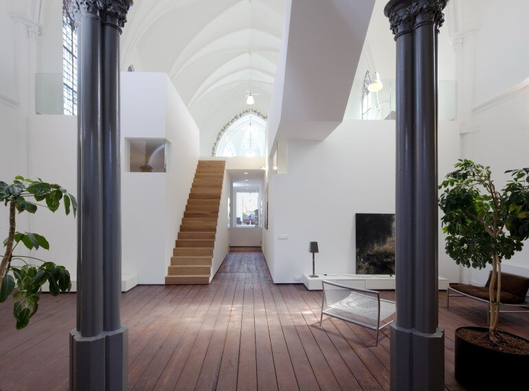 Old Catholic Church Converted into a Spacious House (15)