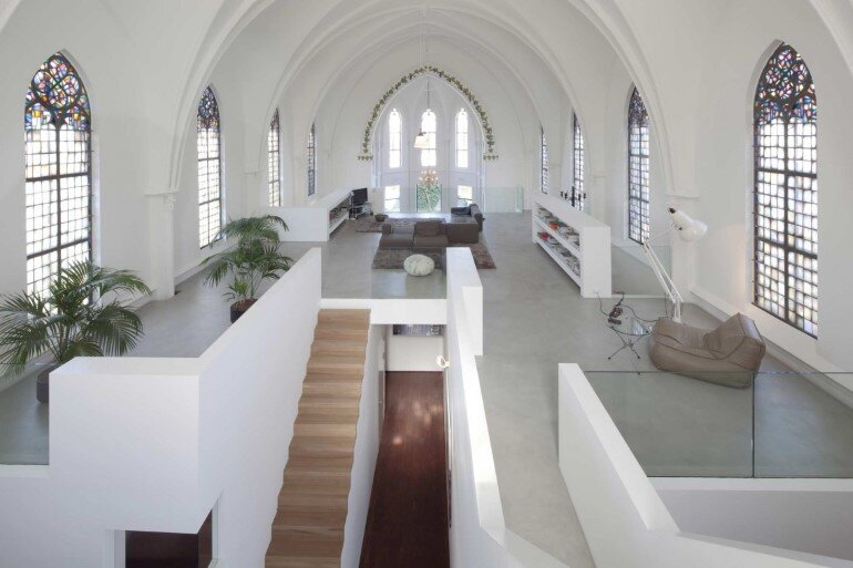 Old Catholic Church Converted into a Spacious House (6)