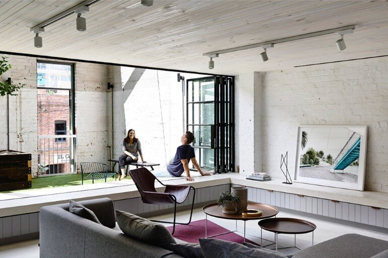 Old Industrial Warehouse Converted into a Two-Story Family Home (2)