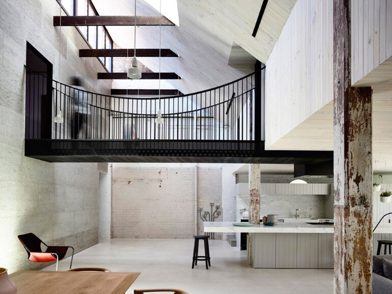 Old Industrial Warehouse Converted into a Two-Story Family Home (4)