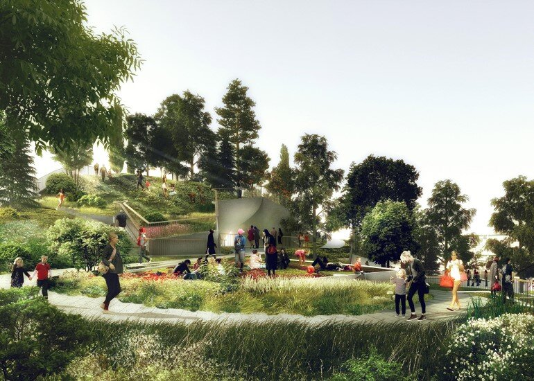 Pier 55 is a New Park and Performance Space in the Hudson River (10)