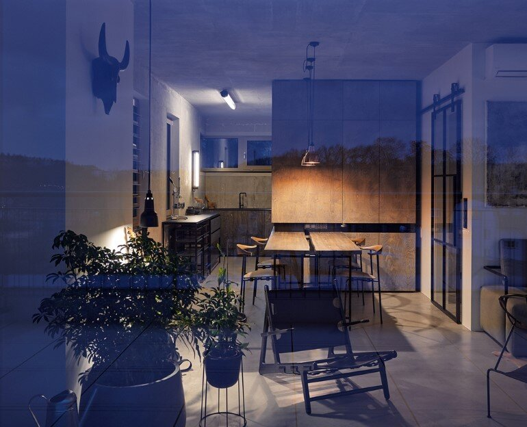 The Loft Hrebenky Combines Rawness and Plenty of Tailor-Made Pieces (22)