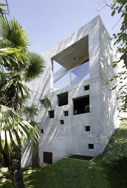 This House is Like an Archaic Stone Block in Middle of the Forest (5)