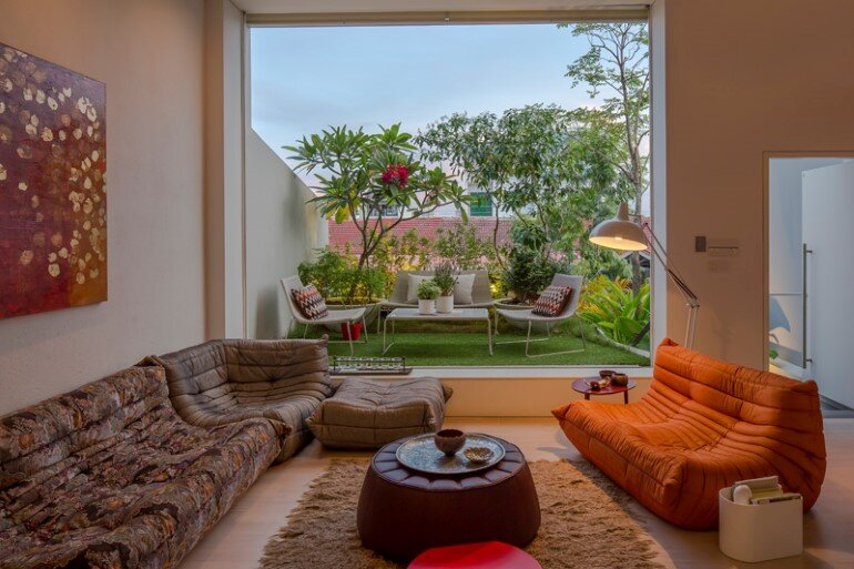 This Open House Gives You the Feeling That You Are in a Boundless Garden (7)