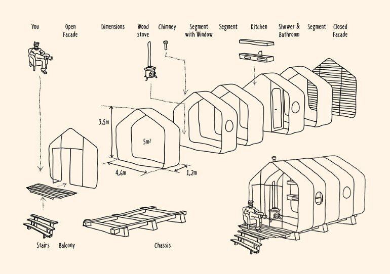 Wikkelhouse is a Special Little House, Made Out of Cardboard (16)