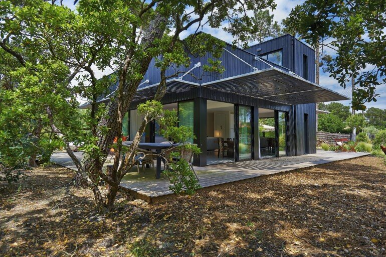 Wood Frame House in Cap Ferret by S+M Architectes (5)