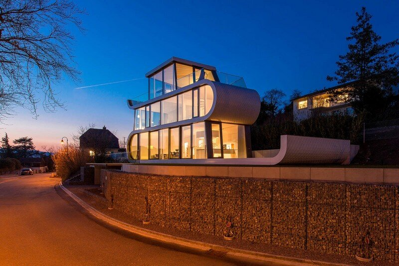Exclusive Family House with Striking Exterior and Breathtaking Views Across Lake Zurich (10)