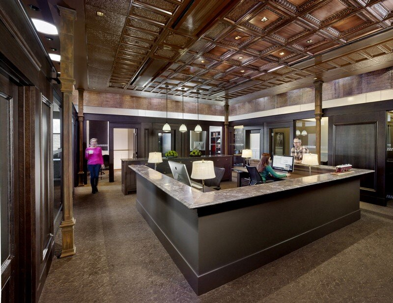 Historic Bank Building Converted into Modern Office Space (12)