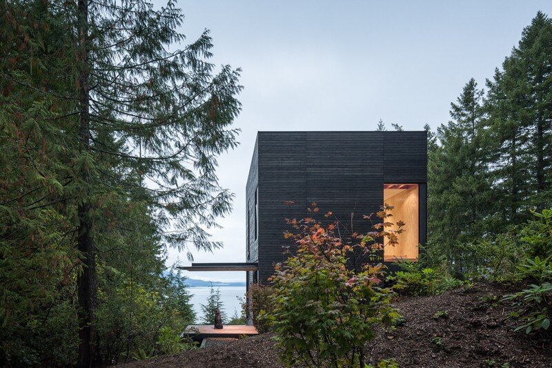 Little House Wrapped in Blackened Timber - MW Works (1)
