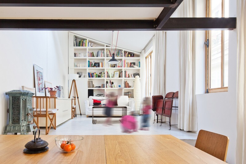 Reconstruction of the Artist's Studio in a Residential Loft, Paris (4)