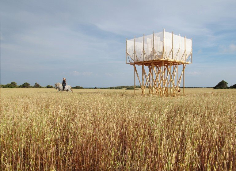 This Wooden Tower is a Space for Grooming, Contemplation and Delicacy (1)