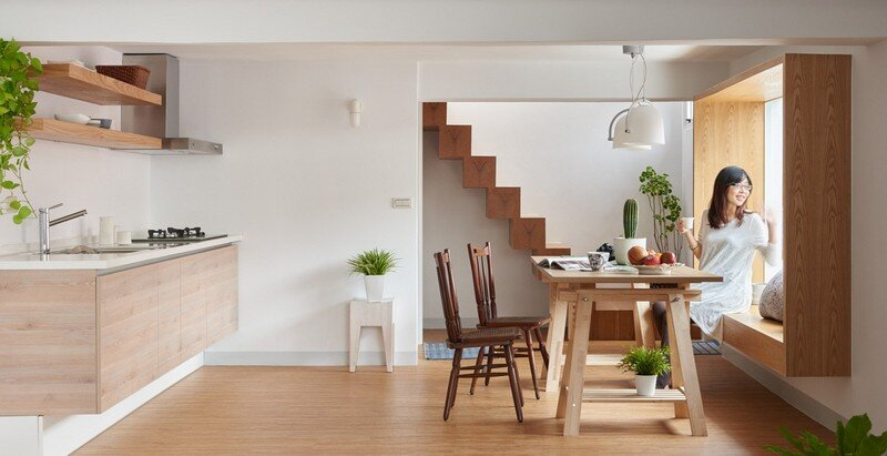 Airy Home in Taiwan with Optimal Balance Between Space and Lighting (12)