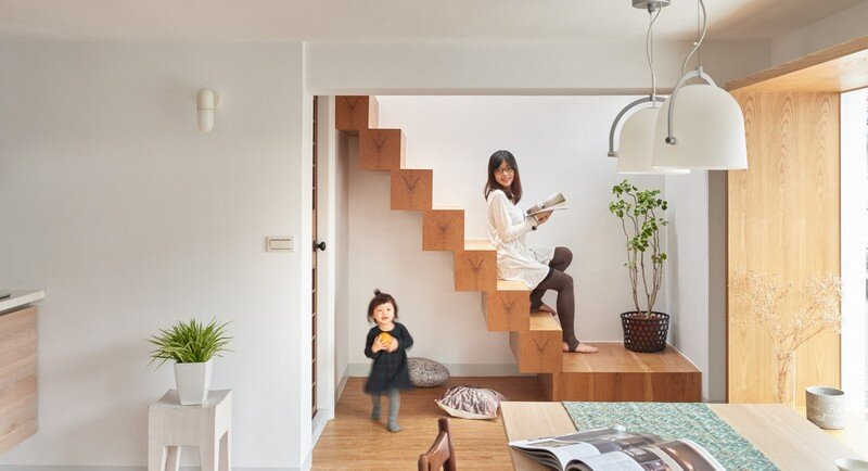Airy Home in Taiwan with Optimal Balance Between Space and Lighting (14)