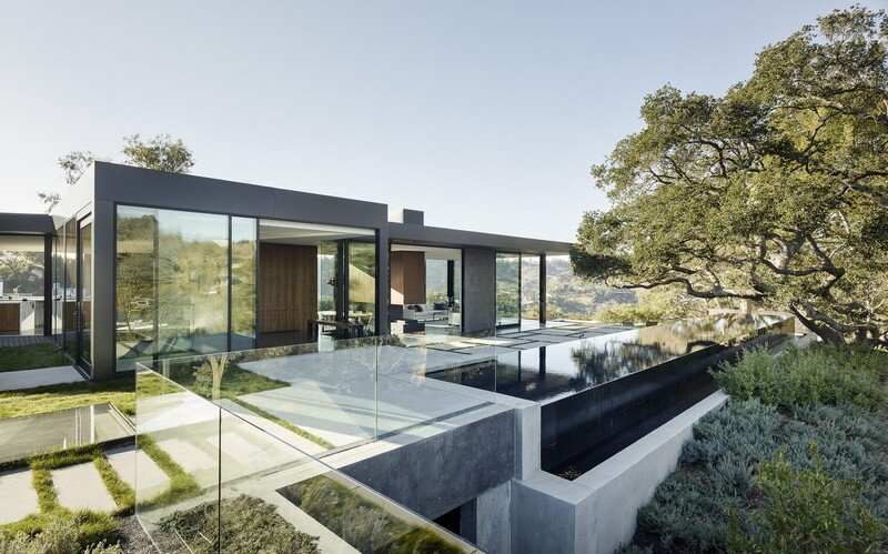 Oak Pass House with Panoramic Canyon Views / Walker Workshop 12