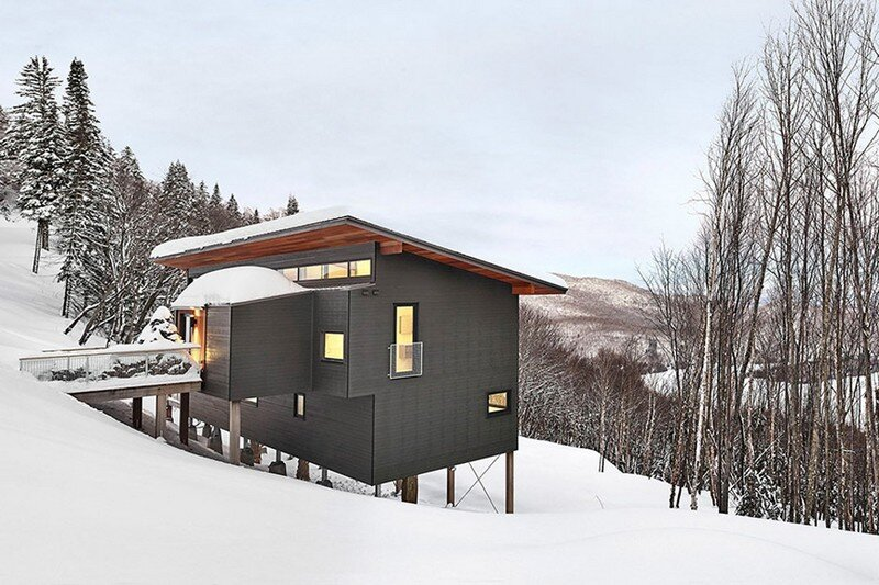 Laurentian Ski Chalet - Weekend Retreat Located on the Steep Slope of a Former Ski Hill (1)