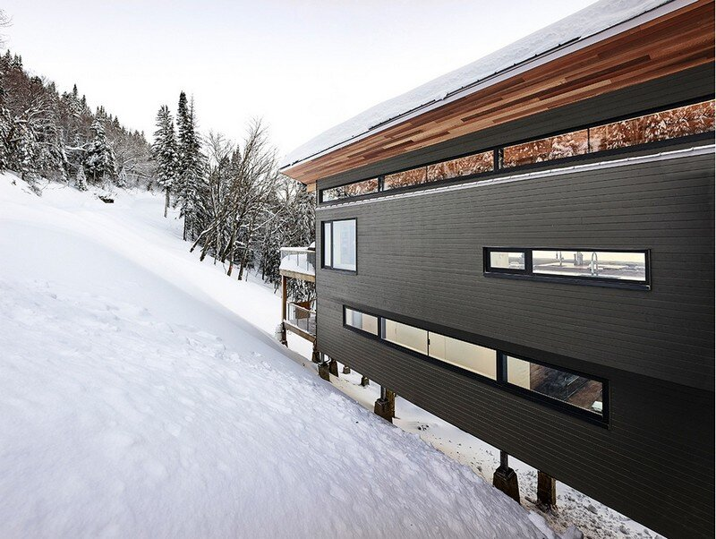 Laurentian Ski Chalet - Weekend Retreat Located on the Steep Slope of a Former Ski Hill (7)