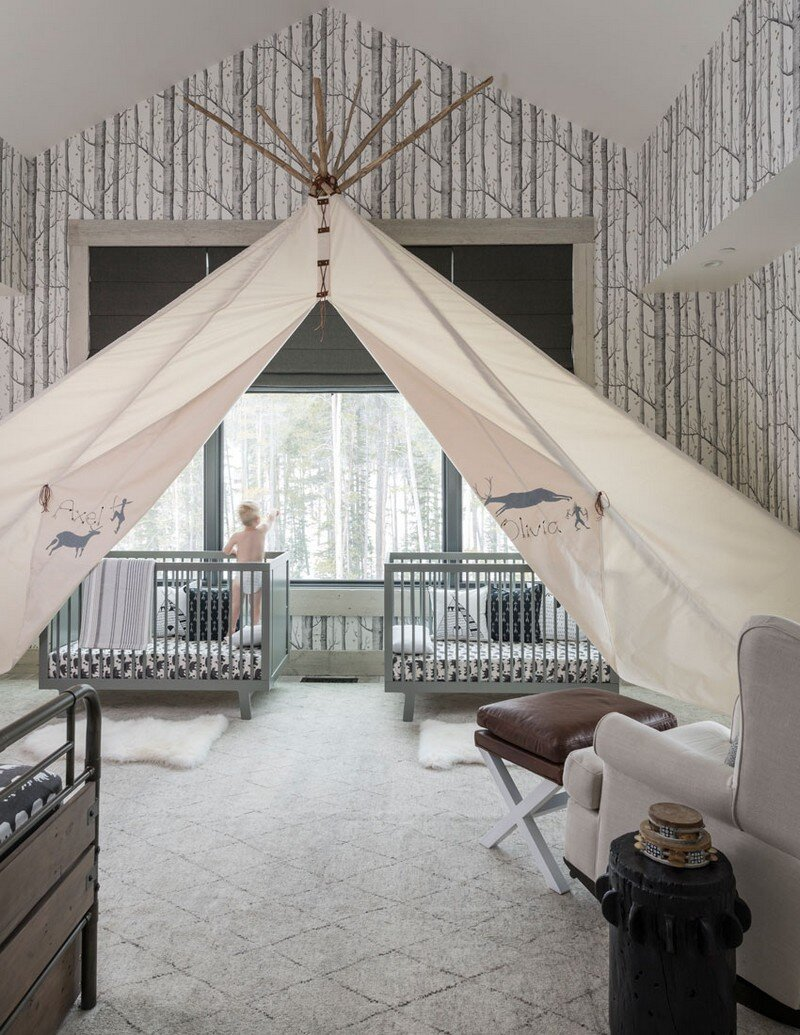 Rustic Mountain House with Zen Interiors Cashmere Interior 14