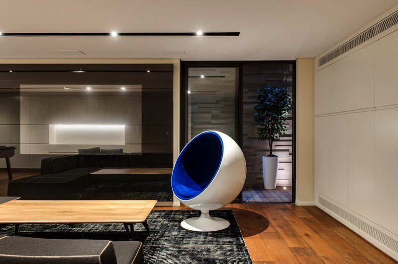 SH House - Modern Town House with a Mix of Design Motives 14