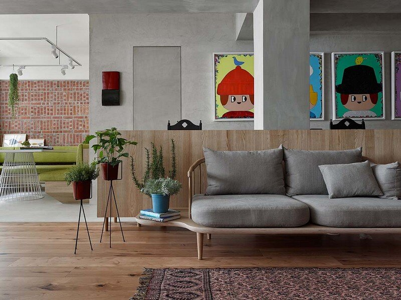 Taipei Open Flat - Wood Beams, Redbrick, and Concrete for a German Lifestyle 9