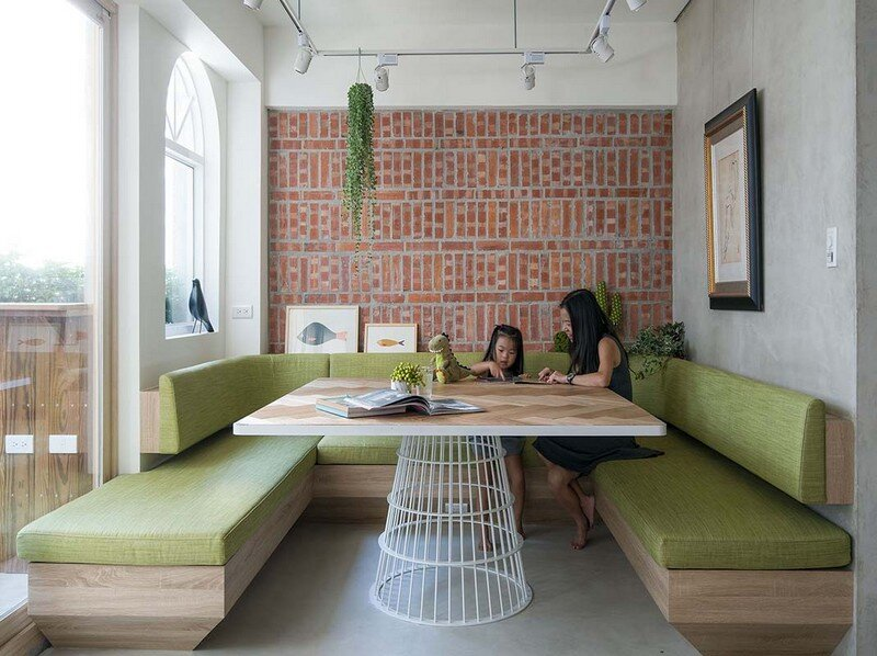 Taipei Open Flat - Wood Beams, Redbrick, and Concrete for a German Lifestyle 14