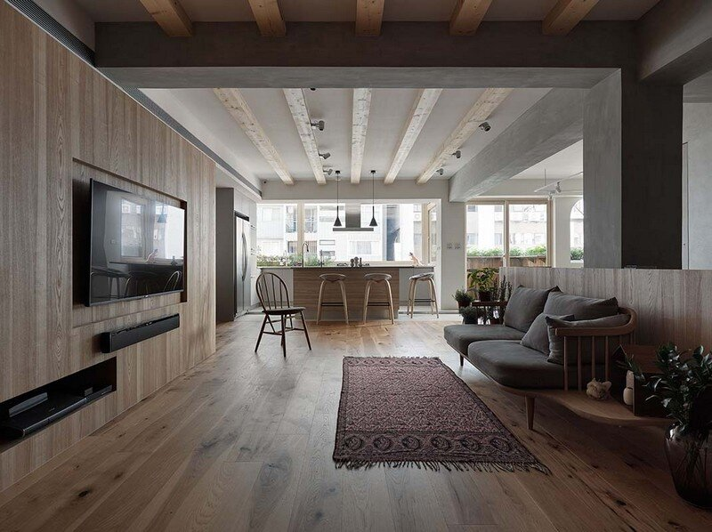 Taipei Open Flat - Wood Beams, Redbrick, and Concrete for a German Lifestyle 2