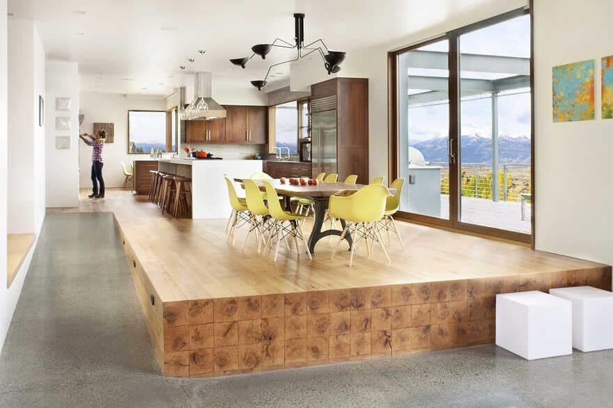 dining room, A Wyoming Getaway Home for a Family of Five