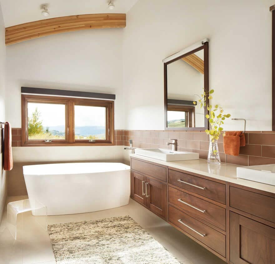 bathroom, A Wyoming Getaway Home for a Family of Five