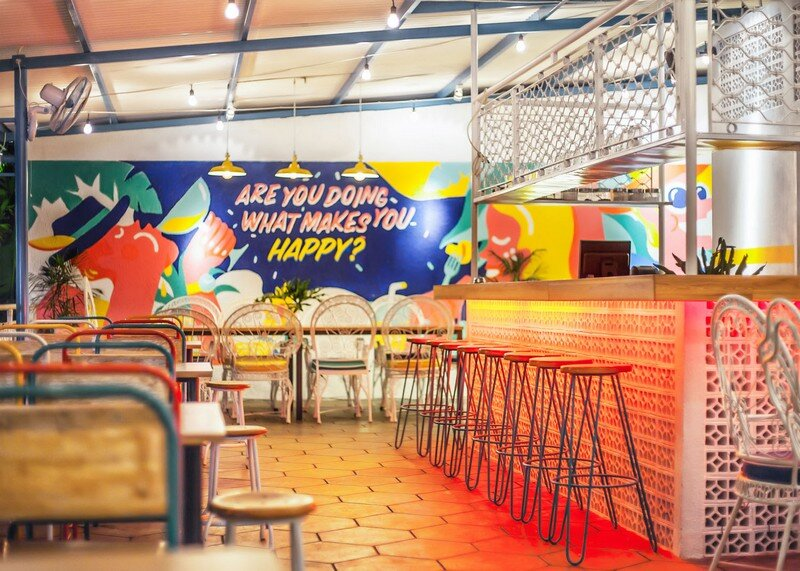Yelo Eatery - Pop Interiors with Modern Industrial Vibe 13