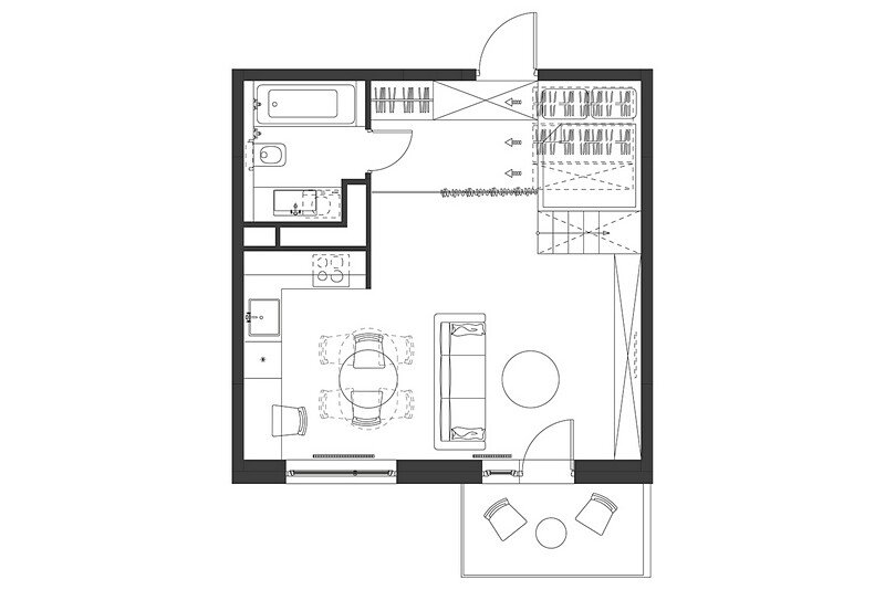 Small Flat for a Young Couple 19