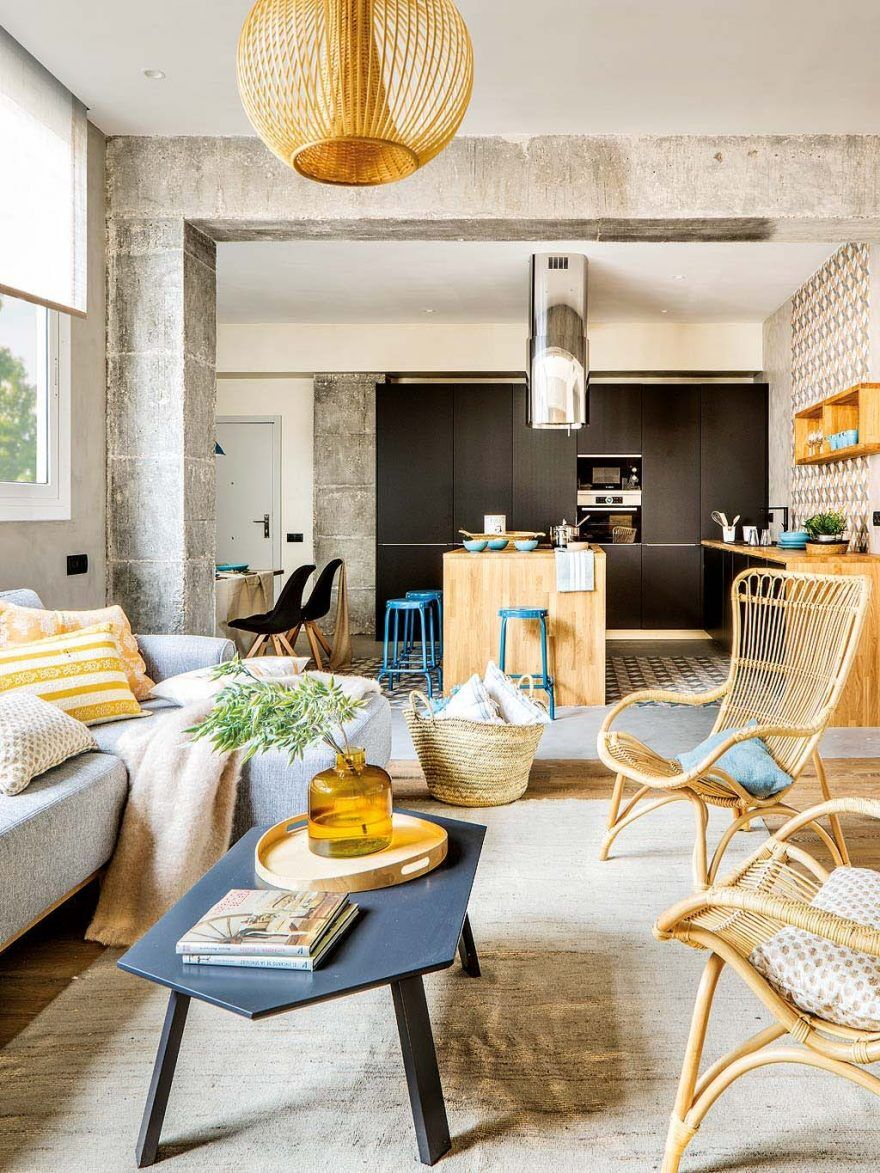 Inspiring Spanish Apartment with Raw Industrial Details 3