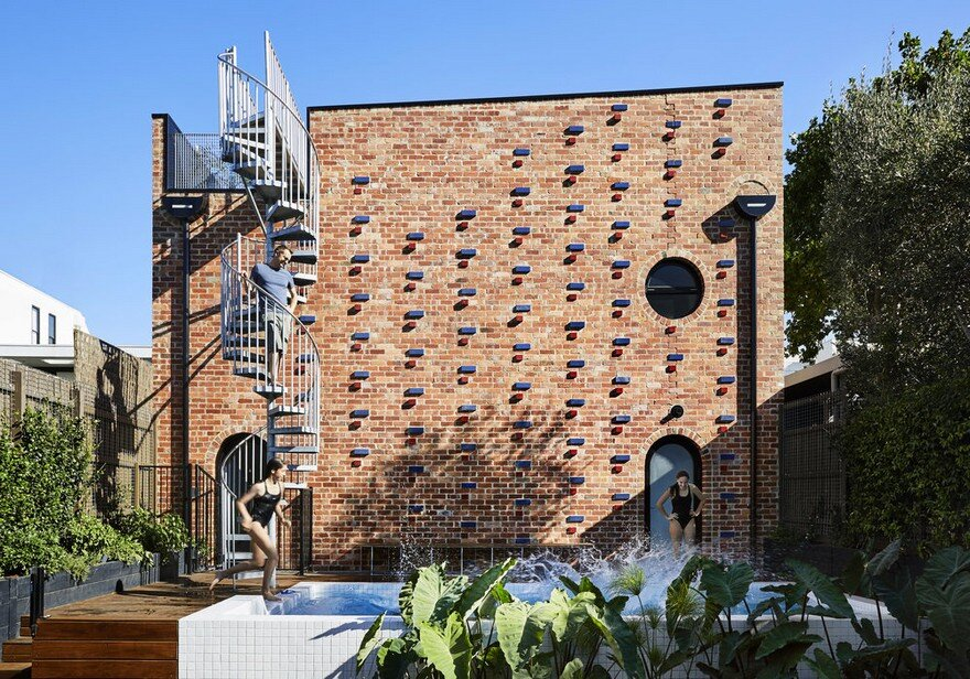 Brickface House is an Amazing Home Built of Recycled Red Brick