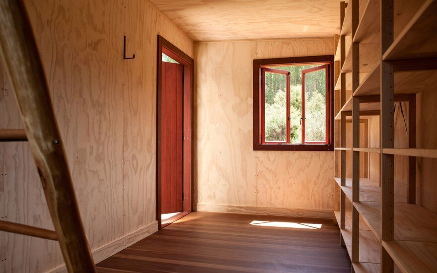Ecosanctuary Welcome Shelter: Floating Roof Over the Wooden Boxes 9
