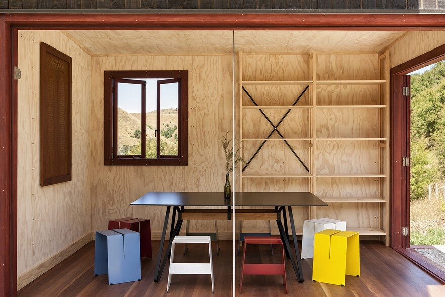 Ecosanctuary Welcome Shelter: Floating Roof Over the Wooden Boxes 7