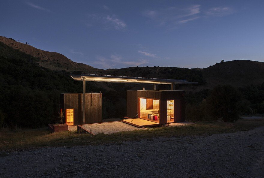 Ecosanctuary Welcome Shelter: Floating Roof Over the Wooden Boxes 17