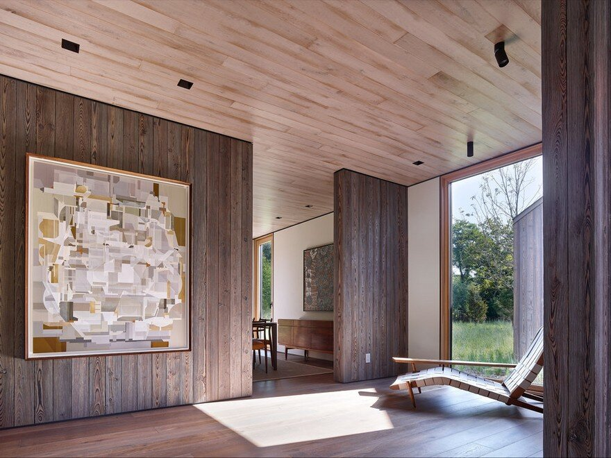 Amagansett House is a Maintenance-Free Home Consists of Two Barn-Like Volumes 8