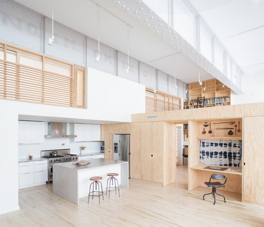 Old Carriage House Transformed into a Live -Work Studio by Jeff Jordan Architects