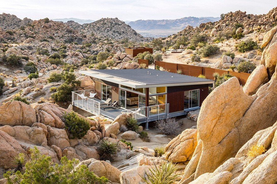 Prefab Sustainable Home Perched Amidst a Pristine High Desert 1