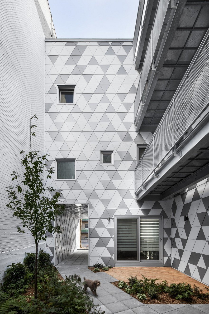 Contemporary Residential Building of Five Housing Units: La Géode by ADHOC Architects 5