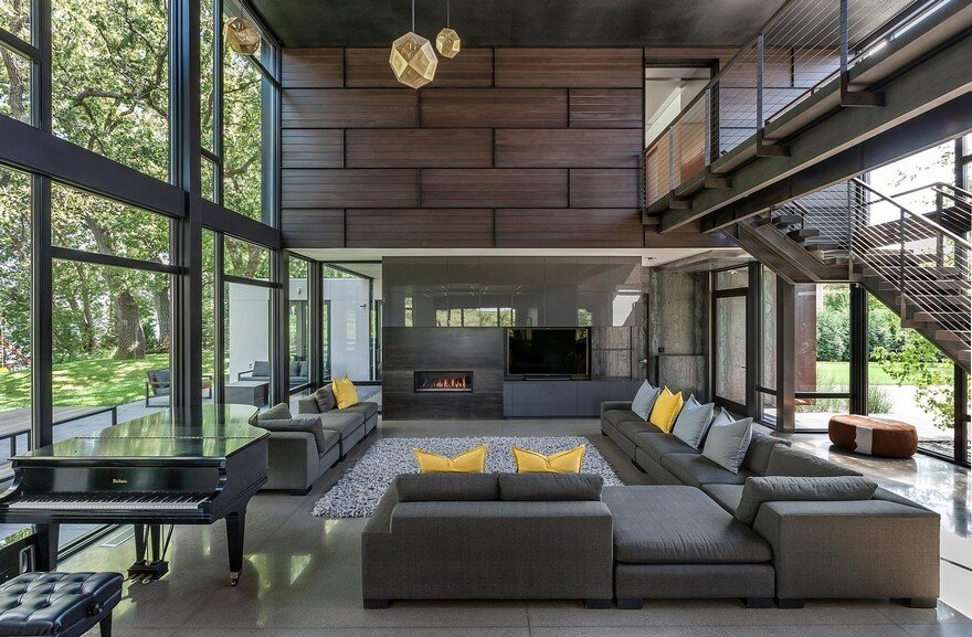 Industrial Modern House Designed to Promote the Outdoors and Active Lifestyle 1