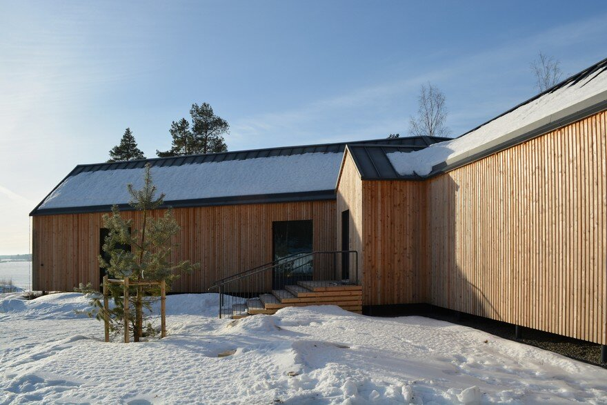 This Modern Finnish House Consists of Three Barns Put Together in a Y Shape 1