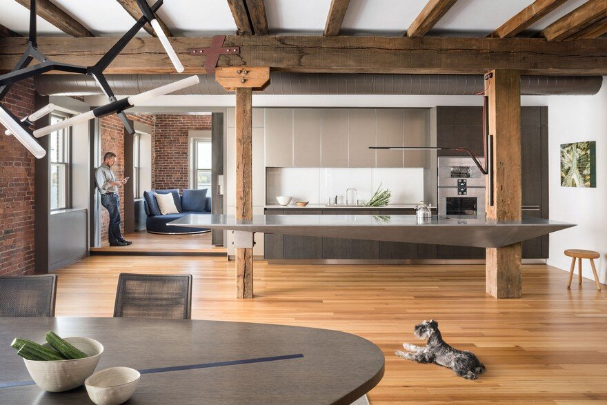North End Loft - Combination of Three Residential Units into a Single Two-Story Loft