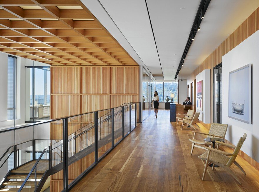 ZGF Architects Designed the Offices of Law Firm Stoel Rives LLP, in Portland, Oregon