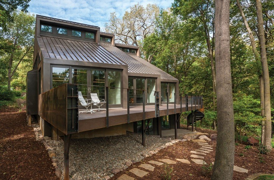Renovation of a Private Residence on a Wooded Site Near Iowa City, Iowa