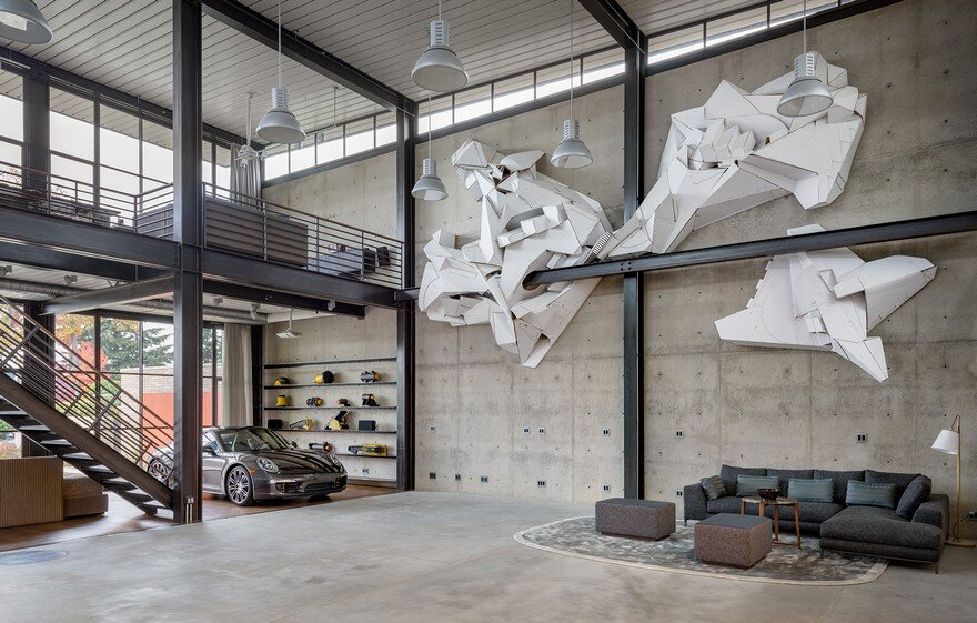 Contemporary Industrial House Features an Expressive Interior of Raw Steel 2