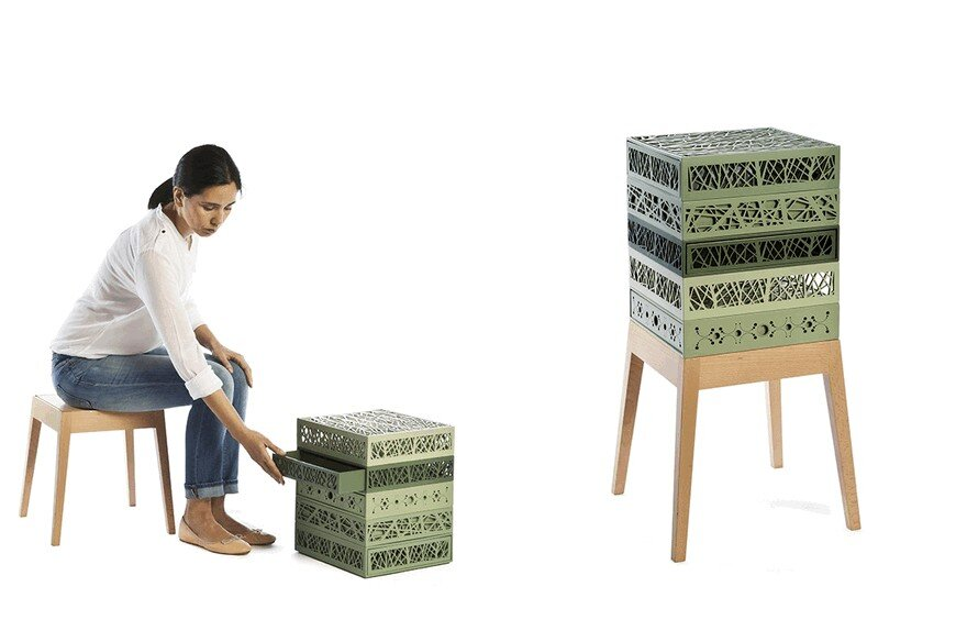 Stool & Boxes Collection by Natalia Geci